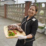 TAMERS® Catering 27.06.2015; Dominique Heine serviert, Foto: Andreas Reichelt
