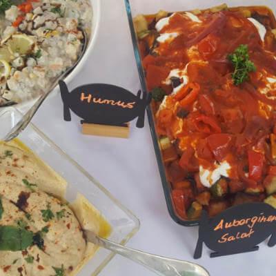 Tamers Catering Leipzig - Mediterranes Bueffet - kalte Vorspeisen